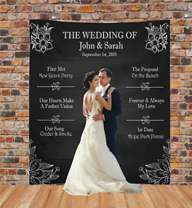 Personalized Wedding Backdrop Banner Custom Bridal Sign Reception Decoration 2 Ebay