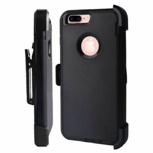 New-Defender-Case-With-Belt-Clip-amp-Screen-Protector-For-iPhone-7-amp-iPhone-8-Black