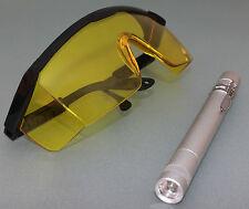 1 Set UV-Lampe Schuzbrille zur Lecksuche Kfz Kühlsystem Ölsystem Klimaanlage NEU