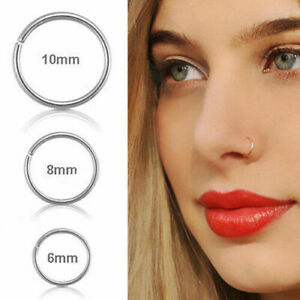 REGNO-Unito-in-Acciaio-Chirurgico-sottile-di-piccoli-anelli-per-naso-Hoop-0-8mm-Cartilagine-Piercing