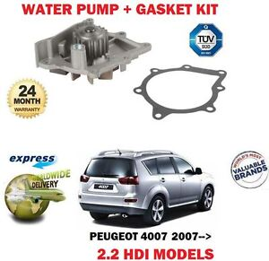 FOR-PEUGEOT-4007-2-2-HDI-2007-gt-NEW-WATER-PUMP-KIT-WITH-GASKET