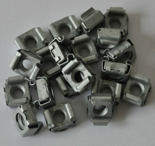 20 Stück Käfigmutter M 8 Stahl matt verzinkt Neuware