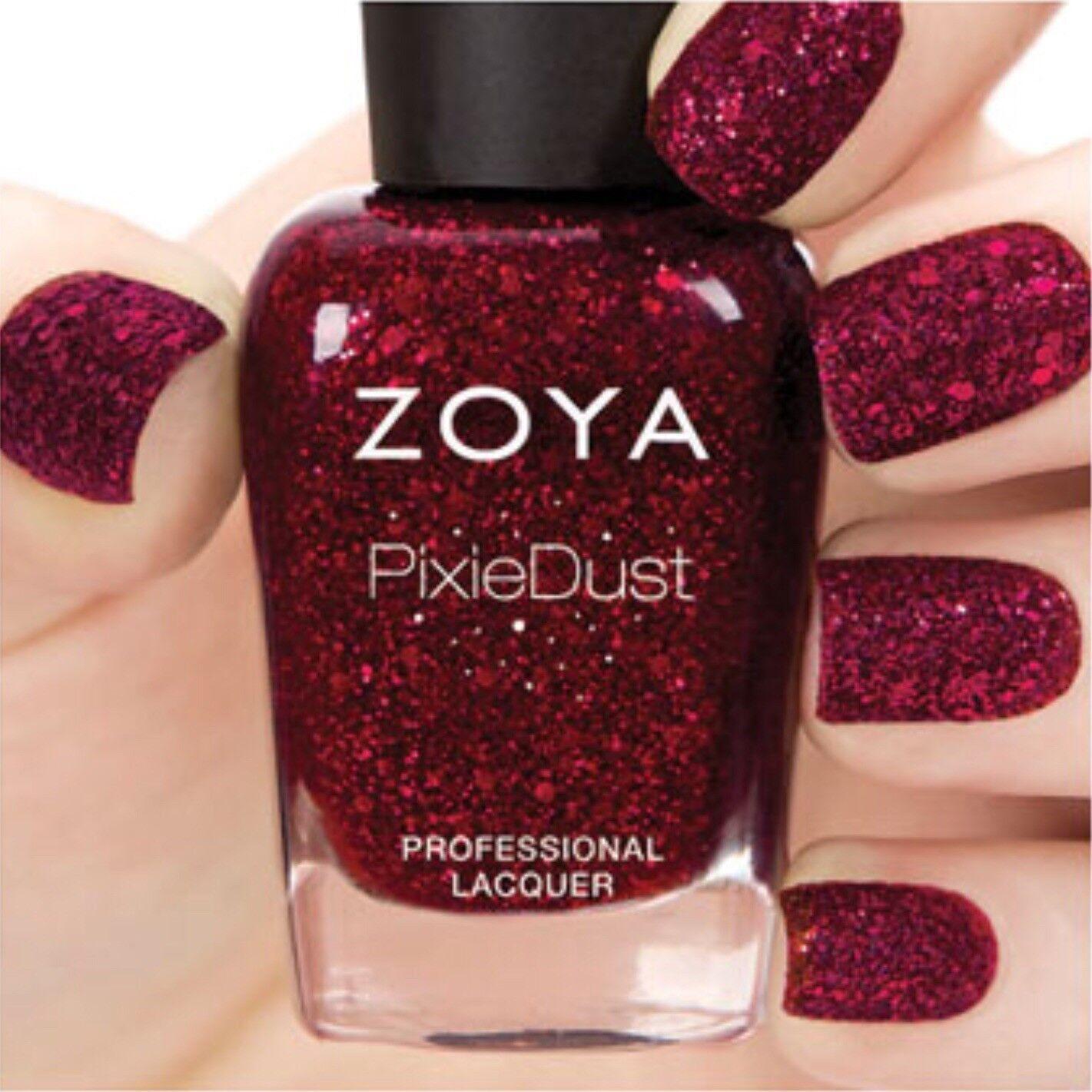 Zoya Zp764 Arianna Ultra PixieDust Red Wine Nail Polish W/ Mega Hex ...