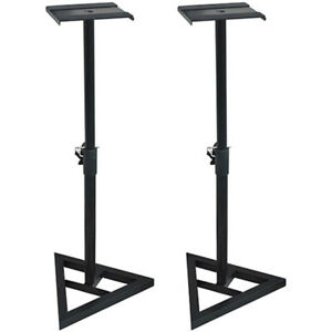 PA-Speaker-Stands-Holds-up-to-10-034-Speakers-SS3518-K-2-Piece-Set-Deco-Gear
