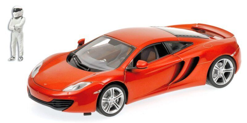 McLaren mp4-12c 2011 arancia TOP GEAR + FIGURE 1:18 MODEL 519101330 Minichamps