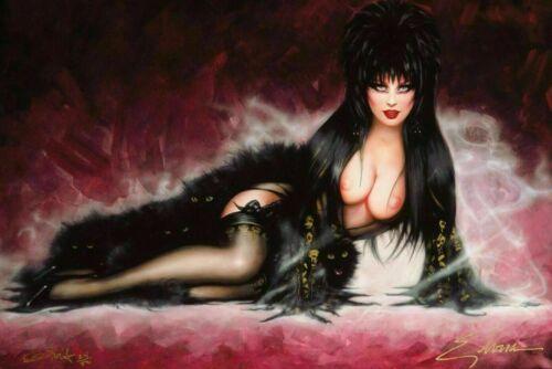 Olivia de Berardinis Elvira Signed Pinup Movie Art Silk Poster 24x36inch