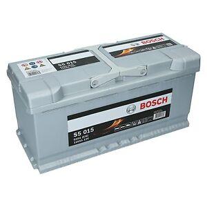 pkw autobatterie 12 volt 110 ah bosch s5 015 starterbatterie ersetzt 105ah ebay. Black Bedroom Furniture Sets. Home Design Ideas