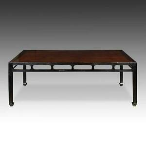 Details about ANTIQUE CHINESE QING DINING ROOM TABLE ELM WOOD FURNITURE  SHANXI CHINA 19TH C.