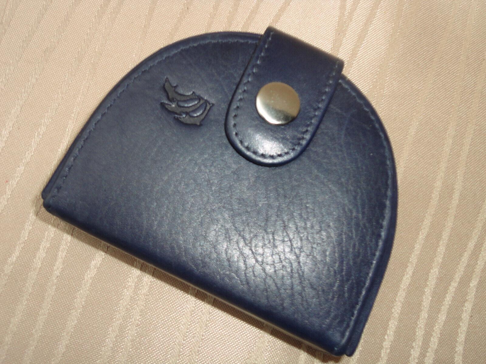 *Herren Leder Schüttelbörse-Blau-Qualität-Dolphin Kollektion