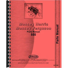 New Parts Manual Fits Massey Harris 555 Tractor
