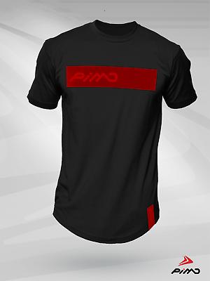 Pimd Deity Black/ Red Tee - Fitness Workout Gym Long Size T Shirt Mens Urban SchöNer Auftritt