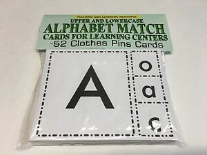 ALPHABET-MATCH-Cards-for-Learning-Center-52-Cards-Letters-Teaching-supplies