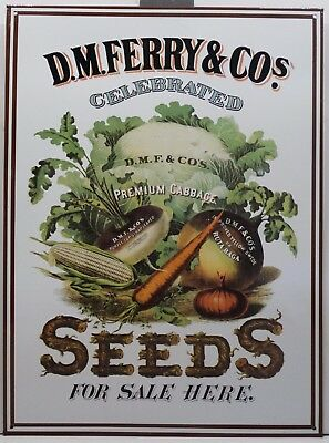 D.M Ferry and Co Seeds Farming Planting Country Metal Sign
