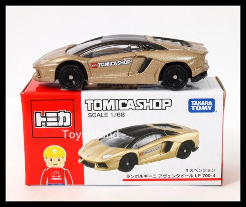 TOMICA Shop 87 Lamborghini Aventador LP 700-4 1//68 Tomy 2014 juillet couleur or