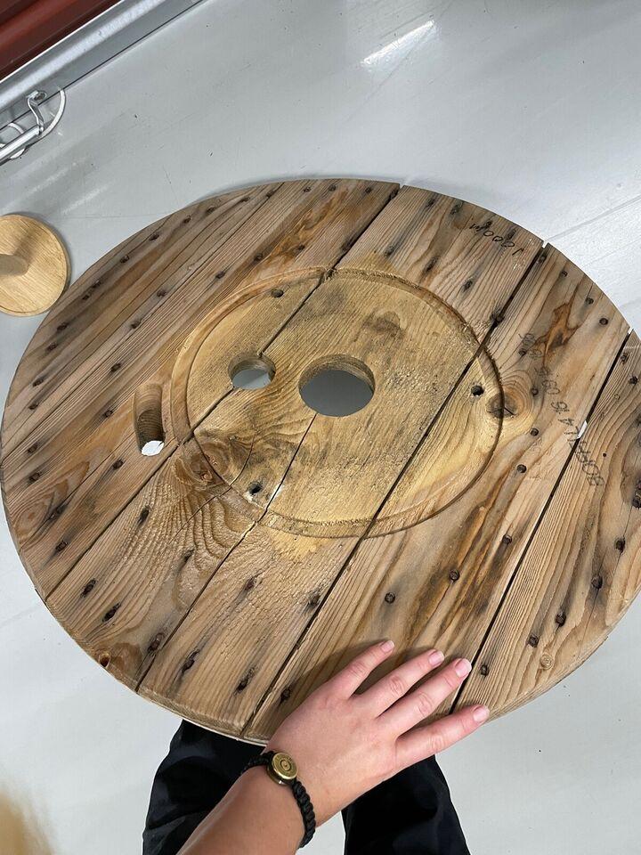 Cafebord, Træ, Kabeltromle