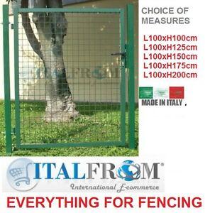 Porte portail de cloture fer porte du jardin fil des cl tures grillag es ebay - Portail de jardin en fer ...