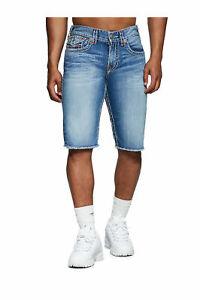 True-Religion-Men-039-s-Ricky-Super-T-Straight-Denim-Jean-Shorts-in-Americana-Aqua
