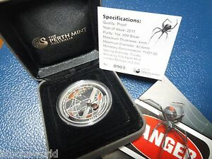 Tuvalu Red Back Spider Perth Mint 1 999 Silver Coin 1oz