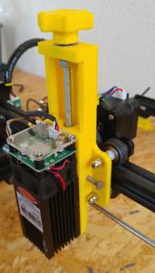Einstellbare Höhenverstellung für Dioden Laser Ortur 40x40mm uvm mit Endstop NEU