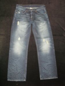 Armani Hommes 100 X Axe 29 Jeans Sz Straight Relaxed 32 Distressed Exchange Coton TxwWqnW61