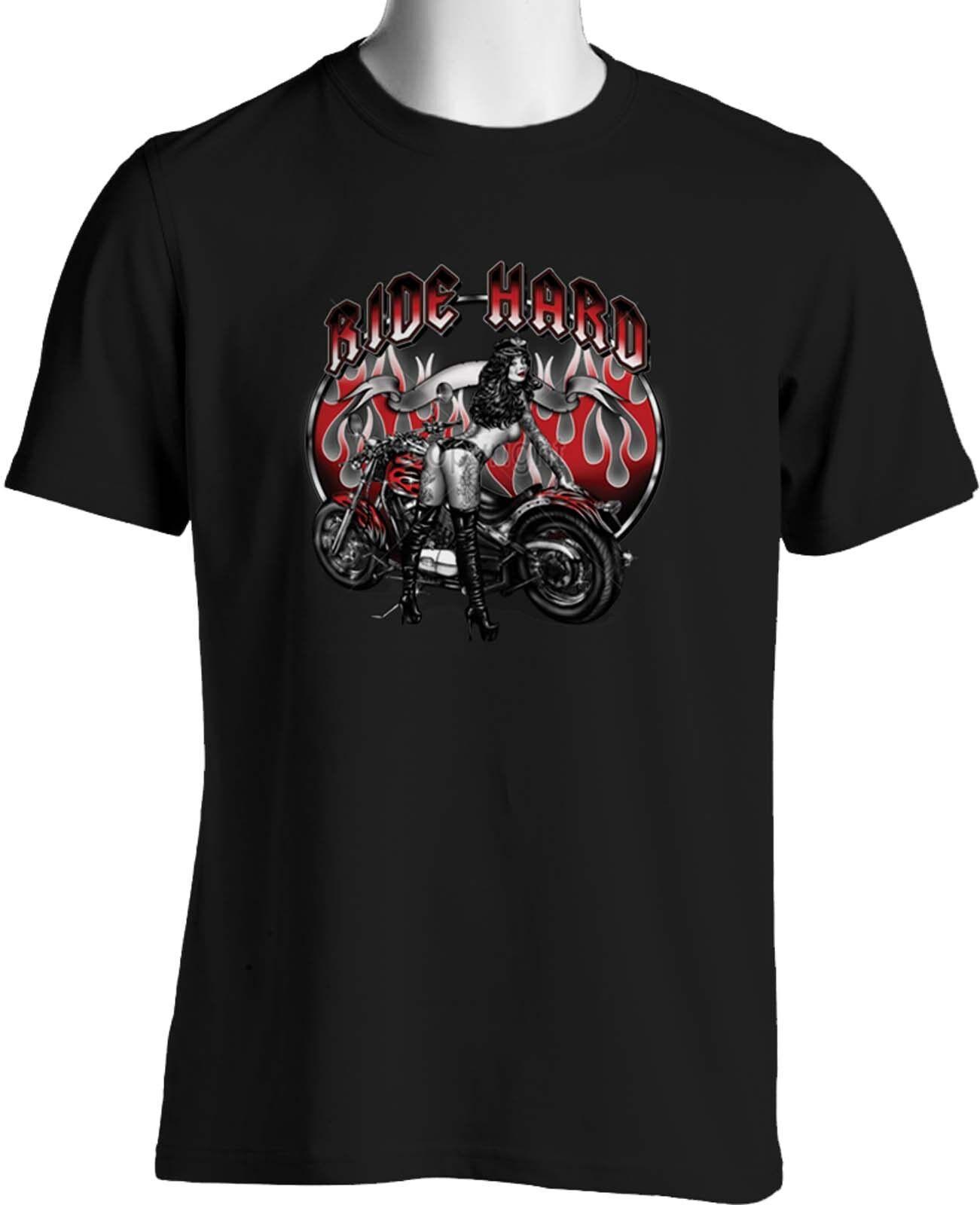Biker T-shirts Tattoo Girls ROT Hot Flames Custom Chopper  Herren Big & Tall 7X 8X