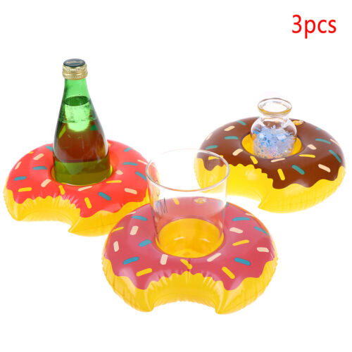 3pcs//lot Outdoor Donuts Inflatable cup holder Swimming Pool Party Decoratio LT=