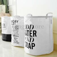 White Laundry Washing Clothes Socks Hamper Bag Waterproof Basket Linen