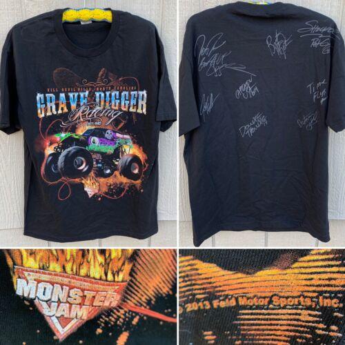 Monster Jam Grave Digger Racing Autographed T-Shir