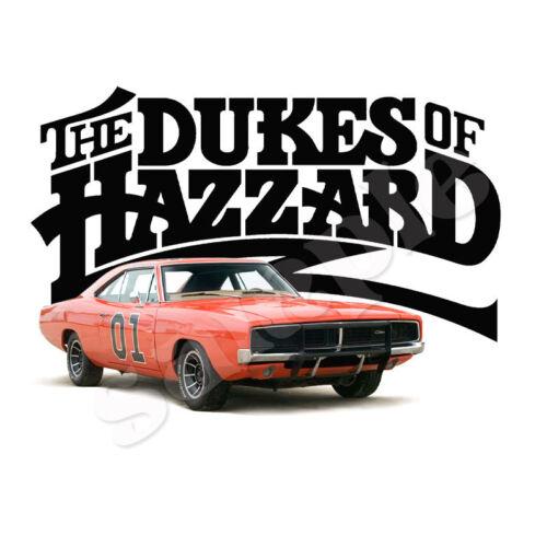 THE DUKES OF HAZZARD IRON ON TRANSFER