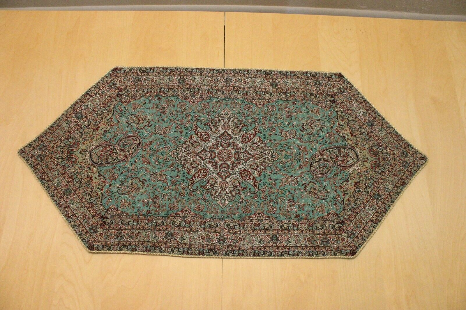 """Persian Woven Tapestry Art Termeh Rug Design Tablecloth Wall Hanging3 8"""" X 18"""""""