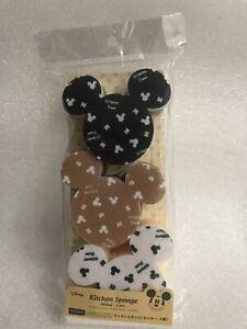 New Daiso x Disney Mickey Mouse Kitchen Sponge set of 3 Mouse ears dish washing