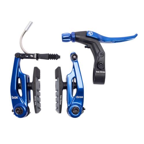 BRAKE KIT BOX THREE V Caliper 85mm w//LEVER BLUE AND CABLE SHORT MINI BMX