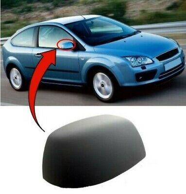 2005-2007 Ford Focus Door Wing Mirror Cover Primed Passenger Side High Quality