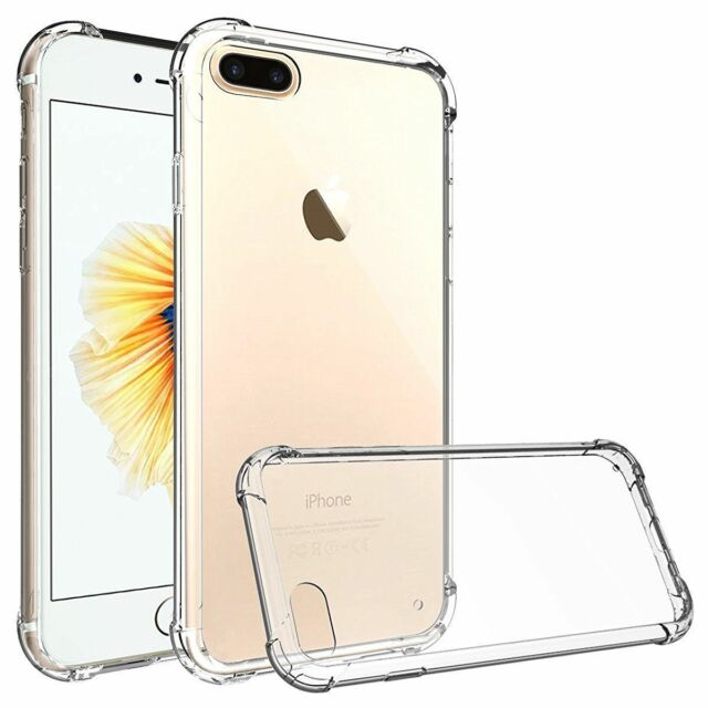 iPhone 6 , 6s Case Shock Proof Crystal Clear Soft Silicone Gel Bumper Cover Slim