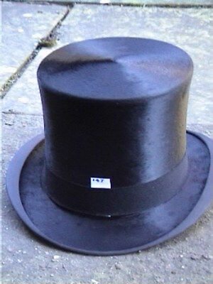 Contemplativo Di Meldrum Aberdeen Black Silk Top Hat Sz 6 ⅞-mostra Il Titolo Originale