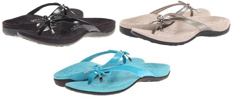 Vionic Orthaheel Bella II Toe Post femmes Orthotic Flip Flop Sandals NEW IN BOX