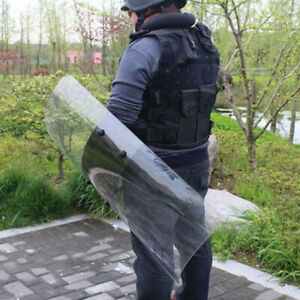 PC Round Anti-Riot Handheld Shield for Cosplay Police Swat Plastic Protection
