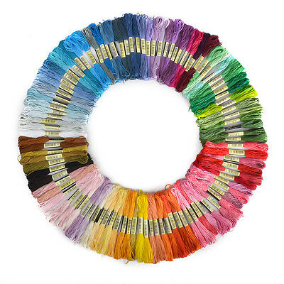 New 100 Colors CXC Cross Stitch 100% Cotton Embroidery Thread Floss