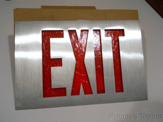 New Prescolite Cast Led Blk Brushed Aluminum Emergency Exit Sign E1865 00