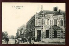 France HAZEBROUCK La Poste Post Office and street scene vintage PPC