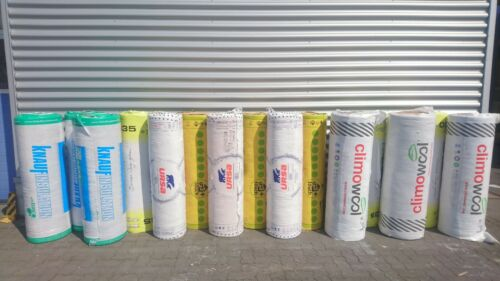 Klemmfilz Glaswolle Mineralwolle 220mm WLG040 15 Rollen a 3,96m² Selbstabholung