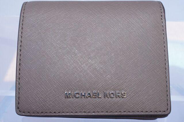 online store 49b4b 33660 Michael Kors Jet Set Travel 100 Leather Saffiano Card Holder Cinder