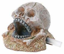 Mini Skull with Air Stone Aquarium Ornament Human Skull Bubbling Decoration