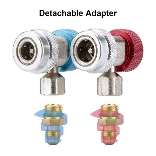 Haut 2PCS BK2X AC R134A Rapide Connecteur Adaptateur Manomètre Coupleur Bas