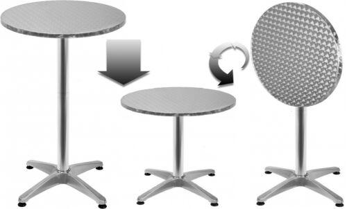 TAVOLINO pieghevole Ø 60cm regolabile in altezza tavolo bistrot ricezione tavolo da giardino tavolo
