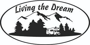 MOTORHOME-CAMPERVAN-CARAVAN-STICKERS-DECAL-GRAPHIC-LIVING-THE-DREAM