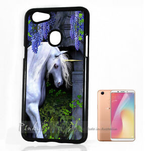 new style 7f219 fc628 For Oppo A73 ) Back Case Cover P10526 White Horse Unicorn | eBay