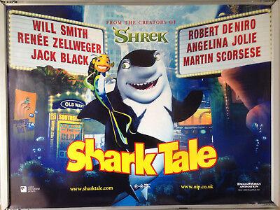 Cinema Poster Shark Tale 2004 Main Quad Dreamworks Animation Ebay