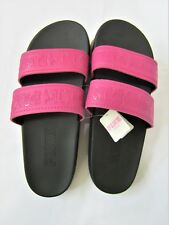 f31c71ae1ee5 item 5 Victoria Secret Pink BERRY BLACK DOUBLE STRAP SLIDES SPORT BEACH  SANDAL L 9-10 -Victoria Secret Pink BERRY BLACK DOUBLE STRAP SLIDES SPORT  BEACH ...