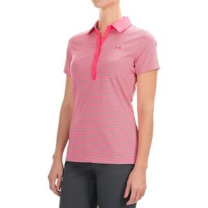 49fa2b3f7882 Details about Under Armour Women s UA Zinger Short Sleeve Polo Shirt 1272338